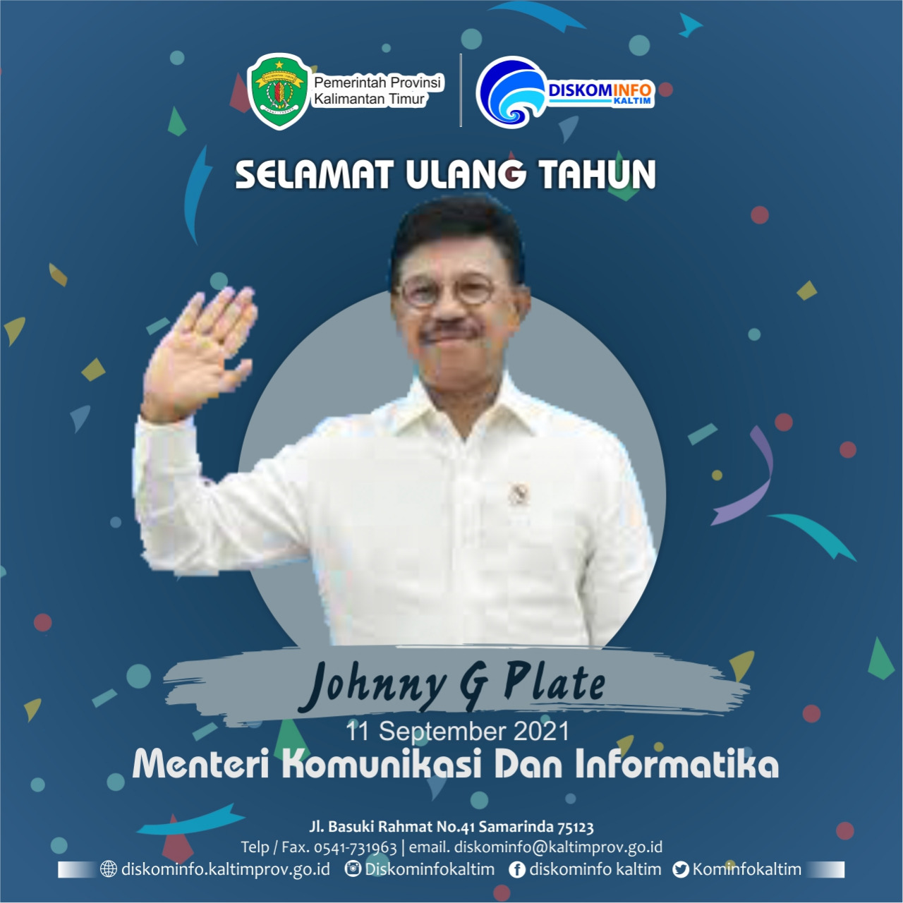 Selamat Ulang Tahun Kepada Menteri Komunikasi dan Informatika, Johnny G Plate