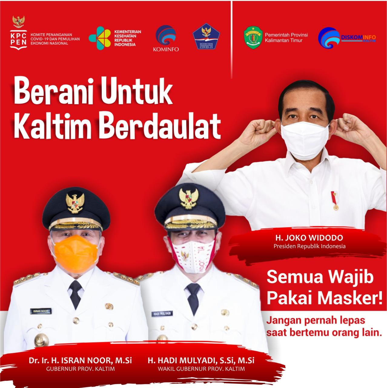Halo #SobatKom Mari Berani Berdaulat dengan cara menggunakan masker agar kita bersama mencegah penyebaran virus Covid-19.